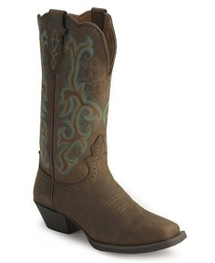 Justin Stampede Western Cowgirl Boots with Rubber Sole - square toe- Got these :)