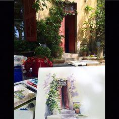 Пленэрили у ателье Поля Сезанна. #экстакойэкс #watercolorprovence_jb by dnprovence