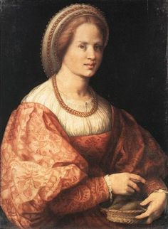 Lady with a Basket of Spindles - Jacopo Pontormo