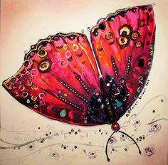 DesertRose,;,Butterfly Art by Canan Berber,;,
