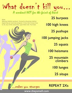 Extreme workout to challenge yourself