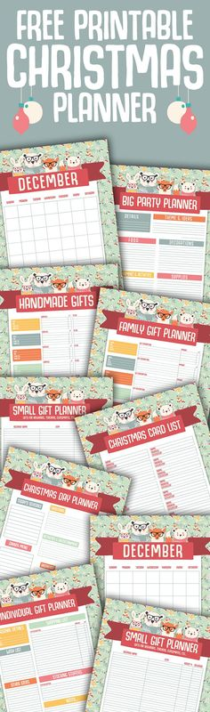 Free Printable Christmas Planner...18 Pages that will help organize the entire Holiday Season!  Party Planner, Gift Planner, Calendars and so much more!  FREE!!!