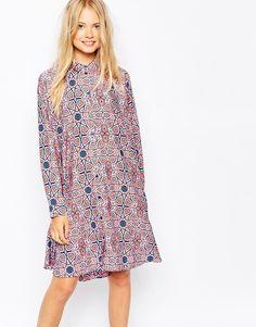 Monki Printed Shirt Dress