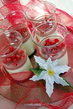 Πανακότα με ρόδι/Pomegranate Pannacotta Alcoholic Drinks, Greek, Cooking, Glass, Desserts, Recipes, Food, Kitchen, Tailgate Desserts