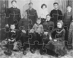 Download free software and use an old family photo to make computer-based puzzles the whole family can enjoy solving.