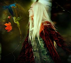 """saraginotou: """"becauseiamrealelf: """"  After the death of the Dragons, Thranduil received word from the birds of the woods that loved his folk. The King set out toward the Lonely Mountain with a company of elves armed with bows and spears and met..."""