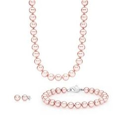 Honora® Pink Cultured Pearl Box Set in Sterling Silver - June - Birthstones - Jewelry - Categories - Helzberg Diamonds