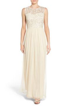Lace & Beads 'Bella' Embellished Sleeveless Gown available at #Nordstrom
