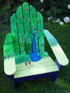I have just the chair for this design. --- we have these chairs... wonder if i can talk my mom into letting me paint them