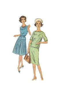 Simplicity Sewing Pattern Retro 60s Mad Men by AdeleBeeAnnPatterns, $6.50