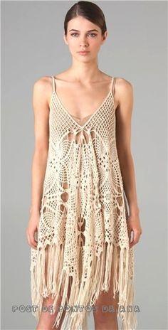 Kraina wzorów szydełkowych...Land crochet patterns..: sukienka