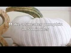 Make a sweater pumpkin in 5 minutes. Here's a minute by minute tutorial that's easy. Make two in 10 minutes. Halloween Projects, Halloween Diy, Halloween Decorations, Diy Projects, Angel Christmas Tree Topper, Christmas Angels, Old Sweater, Sweaters, Sweater Pumpkins