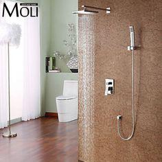 Attraktiv Bathroom Rain Shower Set With Shower Head And Hand Shower Bad  Brausenmischer Wasserhähne, Regen Dusche