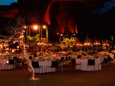 Botanical Garden Medellin Colombia - possible location - photo of a wedding at night