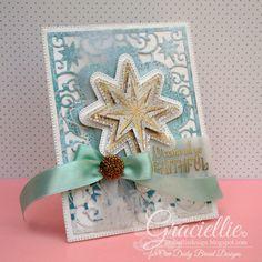 Graciellie Design - Our Daily Bread Designs November Release, Christmas card, Christmas star, aqua card