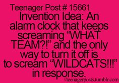 I would wake up laughing every day. genius. HSM for life. I would say shamelessly but there's a tiny bit of shame. lol