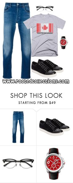 """""""rooted collections - OOTD #60"""" by rootedcollections on Polyvore featuring STONE ISLAND, Lanvin, EyeBuyDirect.com, men's fashion, menswear, ootd and canada"""