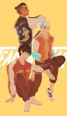 Team Avatar: Trio of Sokka, Aang, & Zuko Avatar Aang, Avatar Airbender, Team Avatar, Avatar Fan Art, Cartoon Kunst, Cartoon Art, Boy Cartoon Drawing, Cute Boy Drawing, Cartoon Memes