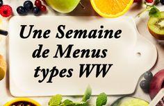 Voici une semaine de menus types ww, prévu pour 23 SP par jour, bien sûr vous devriez adapter ce menu selon vos quota de points.