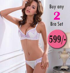 09a1adadb5 Buy any 2 bra set   Rs. 599 - Designer Bra