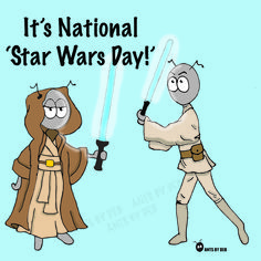 National Star Wars Day, Cartoon Drawings, Family Guy, Comics, Fictional Characters, Drawings Of Cartoons, Cartoons, Fantasy Characters, Comic