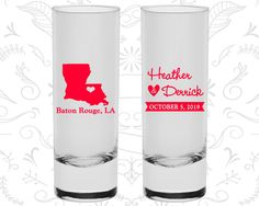Louisiana Shooters, Louisiana Wedding, Promotional Shooter Glass, Destination Shooters, State Shooters, Tall Shot Glass (117)