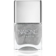Nails inc Electric Lane Holographic Top Coat/0.47 oz. (20 CAD) ❤ liked on Polyvore featuring beauty products, nail care, nail polish, nails, beauty, apparel & accessories, no color, dark nail polish, nails inc nail polish e holographic nail polish
