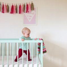 beautiful wall decor together with Dusty Aqua moKee Mini Cot. #babynursery #mokeemini #cot #dustyaqua #mymokeeorder