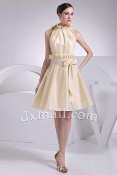 A-line Party Dresses Picture Shown Short/Mini Taffeta picture shown 05001010025