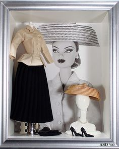 https://flic.kr/p/7YcigG | FDQ Futurism Fashion Museum 9 Diorama | In this photo, Fashion Royalty Traveler by Nature Veronique shows us a taste of the late 1940's