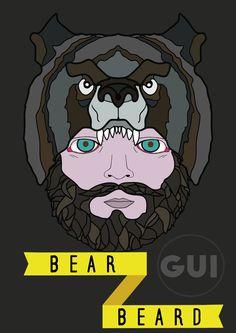 Bear beard illustrator
