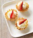 mini lemon strawberry cheesecake bites (1 sp each)