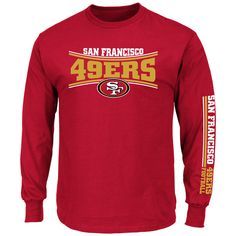 6f628c917 Majestic Men s San Francisco 49ers Corner Blitz Raglan Long Sleeve T ...