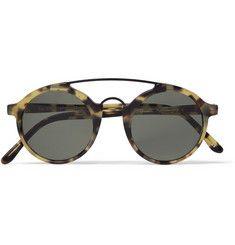 L.G.R Calabar Matte-Acetate Round-Frame Sunglasses Ray Ban Napszemüveg f78dd74787