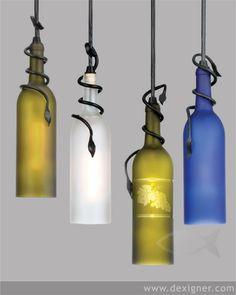 More wine bottle lights