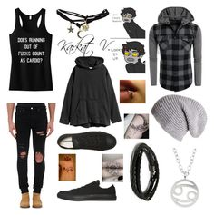 """"""":o)"""" by mikailaclonts on Polyvore featuring AMIRI, Kris Nations, Converse, MIANSAI, Black and Wet Seal"""