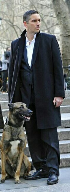 John Reese (Jim Caviezel) and Bear