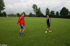 Giannis Matzourakis with Lazlo Boloni