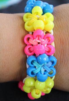 Rainbow Loom Beaded Starburst Bracelet by PuddlebackGifts on Etsy, $3.00
