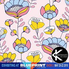 From my portfolio- Tatianas Garden - a folk inspired design .  Just another preview of my work for @blueprintshows .... it is getting close now - May 20th-22nd ! I am working on my final new designs now #blueprintshow #kirstenkatz #printandpattern  #surfacedesign #blueprintshow2 #artlicensingshow  #textileprints #stationerydesign #illustrationart #folkart