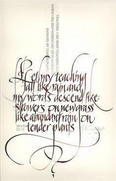 ✍ Sensual Calligraphy Scripts ✍ initials, typography styles and calligraphic art - Rod Sawatsky