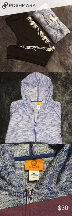 Super Cute jacket! Ruby Rd. XL Sweater jacket! Purpleish-blue/silver. Wore once for just a little while! Ruby Rd. Sweaters