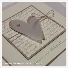 Stempel-Kreativ.de - Kreativ Karten gestalten: Zur Hochzeit ... ❤️