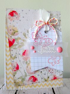 Curtain Call Inspiration Challenge - Love Letter. By design team member Barb Murphy using stamps by DeNami Designs.