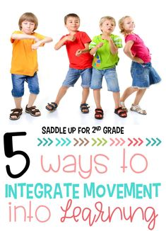 Movement is a great way to keep your students engaged in learning! Check out these 5 simple ways to integrate movement into your daily routine. #classroommovement #classroomengagement
