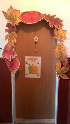 podzimní výzdoba dveří