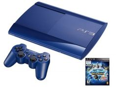 Game Console PS3 Azurite 250GB System with PlayStation All-Stars Battle Royale Bundle #Game Console #PS3