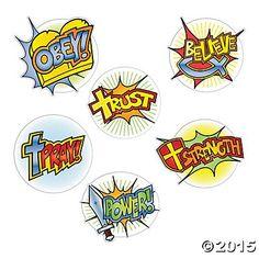 Superhero Faith Cutouts 6 Pk Party Supplies Canada - Open A Party