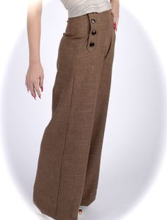 I am having the hardest time finding some high waist-ed trousers, but these are . , I am having the hardest time finding some high waist-ed trousers, but these are divine. 1940s Fashion, Vintage Fashion, Couture, Tweed, Rockabilly Fashion, Up Girl, Vintage Inspired, Leggings Are Not Pants, Vintage Outfits
