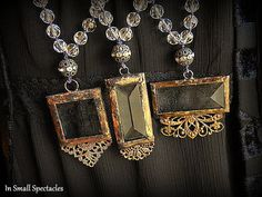 Hand-Knotted Soldered Glass Necklaces by In Small Spectacles on Etsy